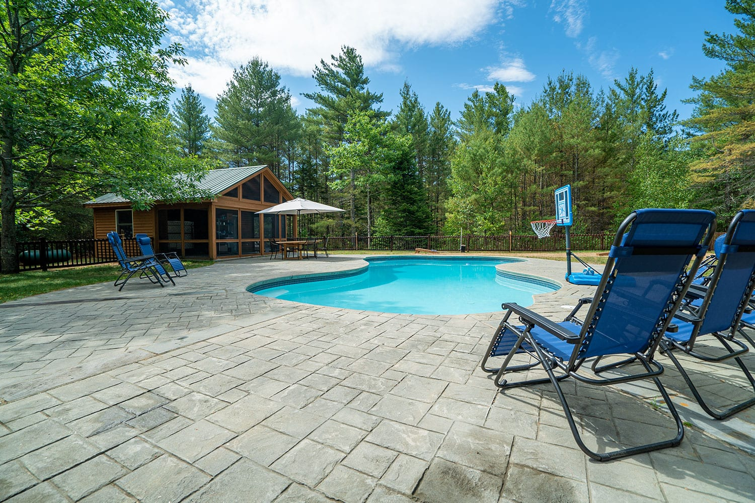 A photo of the pool at Foundation House's FoxHole Ranch.