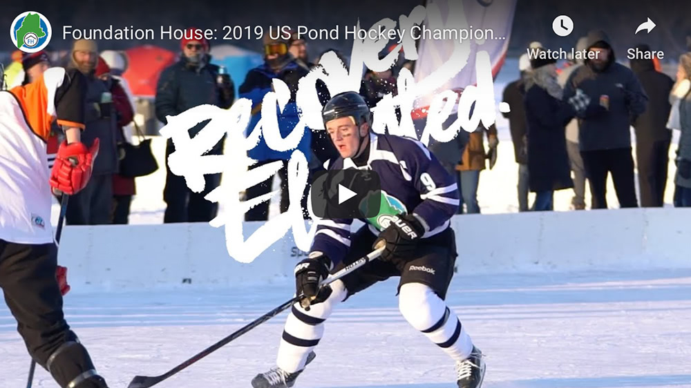 Video cover of 2019 US Pond Hockey Championships.
